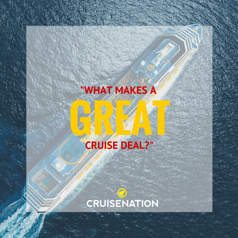 What makes a good cruise deal graphic