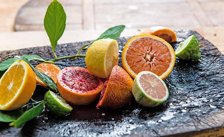 Citrus ingredients for Share restaurant