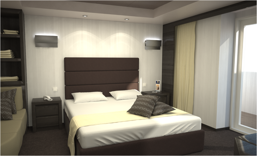 Yacht Club Suite Bedroom on MSC Meraviglia