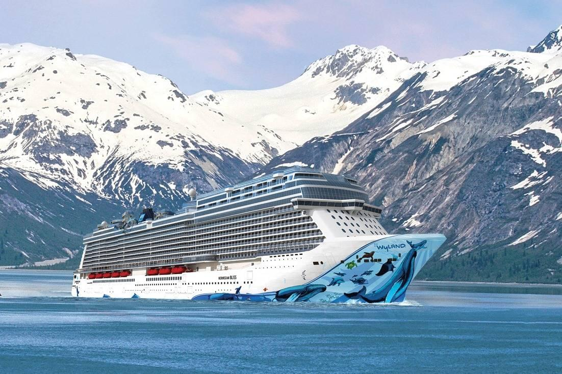 Norwegian Bliss in Alaska rendering