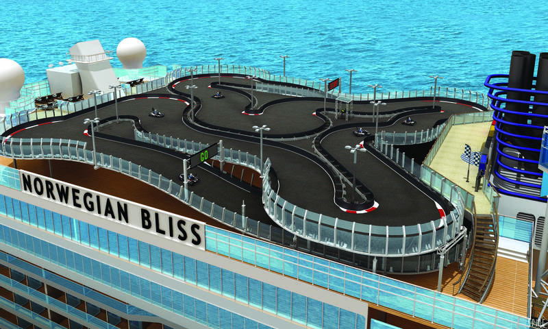Racetrack on the Norwegian Bliss
