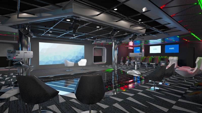 TV Studio and Bar on the MSC Meraviglia